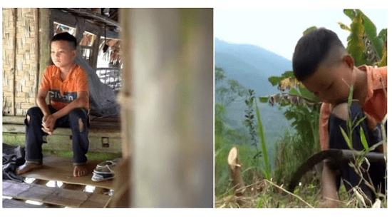 Ditinggal Orangtuanya, Bocah 10 Tahun ini Tinggal Sendiri dan Bertahan Hidup Dengan Menanam Sayur