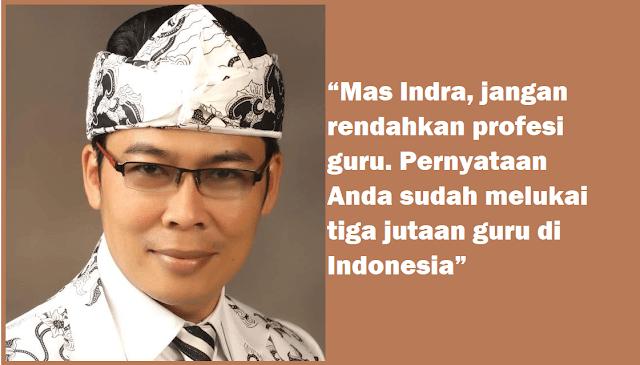 Ketua PB PGRI Indra Charismiadji Sudah Merendahkan Profesi Guru