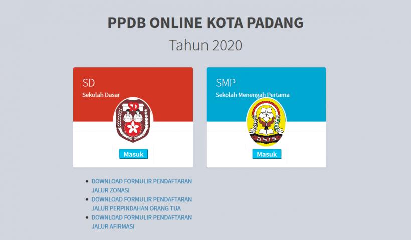 PPDB Online Cara Mendaftar SMP Dinas Pendidikan Kota Padang
