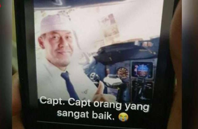 Pilot Sriwijaya Air yang Jatuh di Perairan Pulau Seribu Berasal dari Tanah Datar