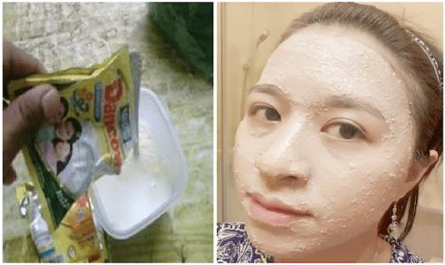 Masker Susu Dancow Bisa Hilangkan Jerawat Wajah Berminyak Flek Hitam & Mata Panda