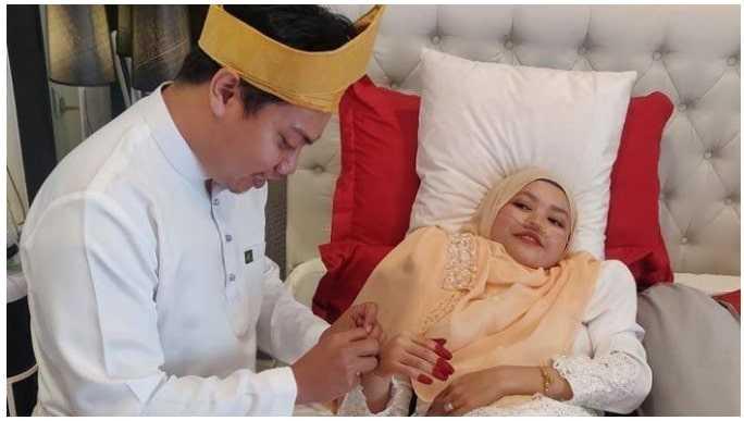Pria ini Tetap Menikahi Pacarnya yang Idap Kanker Darah Stadium 4, Setelah 44 Hari Pernikahan Istrinya