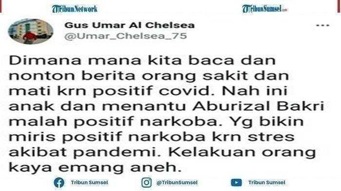 Gus Umar Sindir Nia Ramadhani & Ardi Bakrie Orang Positif Covid-19 Ini Malah Positif Narkoba