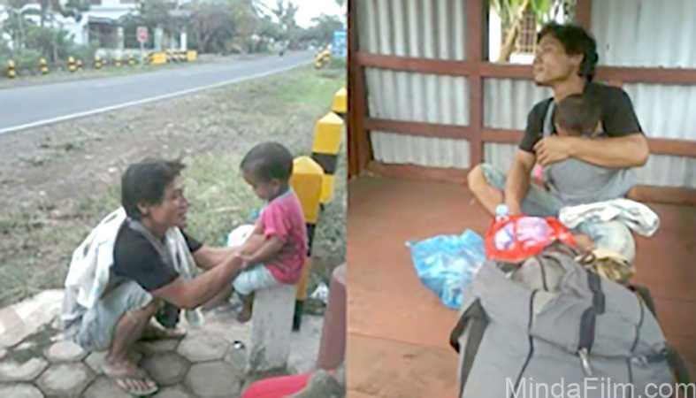Miris, Dicampakan oleh Istri dan Mertua Pria Ini Berjalan dari Madura-Sumatera Sambil Gendong Anak
