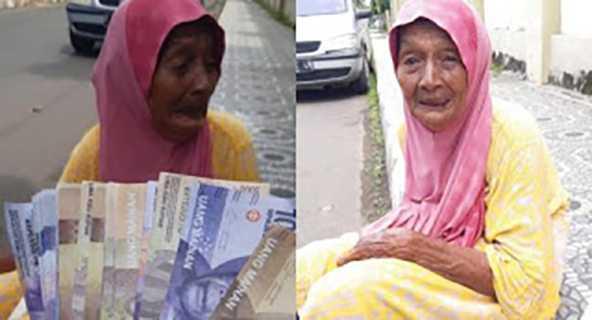Nenek Menangis di Jalan Usai Ditipu Pakai Uang Palsu