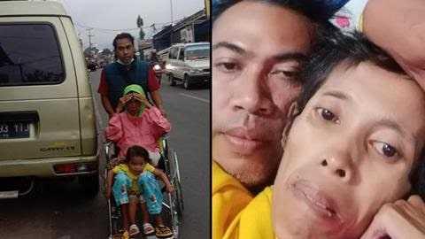 Pria Sejati! Kisah Suami Setia Rawat Istrinya yang Sakit Sampai Akhir Hayat 00